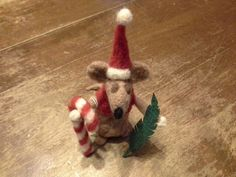 Gins felted Christmas Rat 550