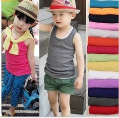 Kids t shirts 2015 summer cotton candy color sleeveless t shirt girl 2 8years boys clothes baby vest top roupas meninos-in T-Shirts from Mother & Kids on Aliexpress.com | Alibaba Group