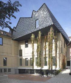 Museum der Kulturen by Herzog & de Meuron Basel, Switzerland Space Architecture, Classical Architecture, Contemporary Architecture, Amazing Architecture, Architecture Details, Museum Architecture, Therme Vals, Building An Addition, Basel