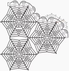وحدات مثلثه ودائريه بالكروشيه-وحدات كروشيه منوعه-وحدات