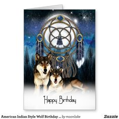 Pin by norma laduke on greeting cards pinterest american indian style wolf birthday card m4hsunfo