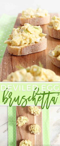 Leftover hardboiled eggs? This take on deviled eggs is for you! Instead of making the Southern classic, turn your leftovers into no-mayo Deviled Egg Bruschetta.