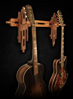 Cherry and Walnut Dual Wall Mount Guitar Hanger… http://atlas-stands.com/gear/stock/