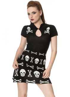 Banned Apparel The Afterlife Skull Dress   Attitude Clothing