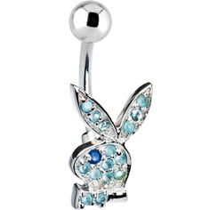 Baby Blue Playboy Rabbit Belly Ring