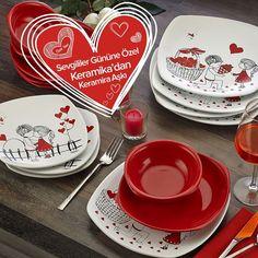 Keramika'dan Sevgililer Günü'ne özel Keramira Serisi! Özel bir güne şık bir sofra hazırlamaya ne dersiniz?>> http://www.dekorazon.com/keramira-aski-urunleri-kategorisi-604?utm_source=pinterest&utm_medium=reklam&utm_campaign=keramika