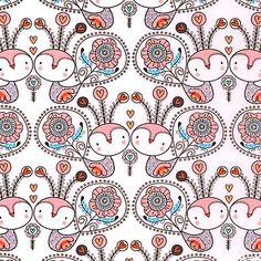 Petite Plume - Little Birdy Blossoms - White