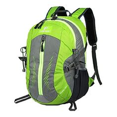 TOFINE Heavy Duty Hidden Pocket Outdoor Water Proof Travel Backpack Green 25L * Find out more about the great product at the image link.