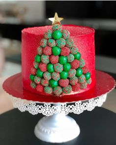 Christmas Themed Cake, Christmas Cake Designs, Christmas Deserts, Christmas Party Food, Christmas Goodies, Christmas Baking, Easy Holiday Desserts, Holiday Cakes, New Year's Cake