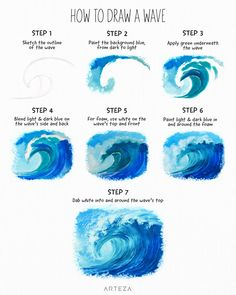 What is Your Painting Style? How do you find your own painting style? What is your painting style? Digital Painting Tutorials, Digital Art Tutorial, Art Tutorials, Diy Canvas Art, Acrylic Canvas, Painting & Drawing, Drawing Step, Wave Drawing, Drawing Ideas