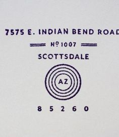 Love this retro address stamp and the grey paper! By MaeMae Paperie