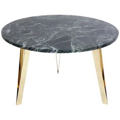 Italian Marble and Brass Coffee Table in the Manner of Gio Ponti   From a unique collection of antique and modern coffee and cocktail tables at https://www.1stdibs.com/furniture/tables/coffee-tables-cocktail-tables/