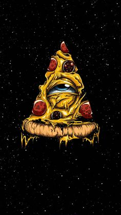 True Religion - Pizza Illuminati on Behance Pizza Kunst, Pizza Art, Best Friend Tattoos, Psychedelic Art, Skull Art, True Religion, Satan, Graphic Art, Fantasy Art