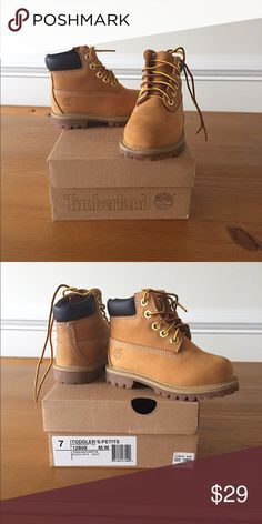 Toddler Timberland Boots Toddler size 7 Timberland boots. Worn once. Timberland Shoes Winter & Rain Boots