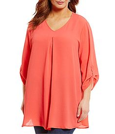 Bobeau Plus 34 Sleeve VNeck Top #Dillards V Neck Tops, Dillards, Cover Up, Tunic Tops, Wedding Outfits, Sleeves, Clothes, Shopping, Dresses