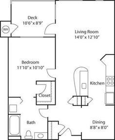 B1- 55+ Adult Living Floorplan
