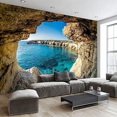 Mural wallpaper Awesome Wallpaper for Walls - Local Home US - Home Improvement The Quick And Easy 3d Wallpaper For Walls, Photo Wallpaper, Wallpaper Backgrounds, 3d Wallpaper For Mobile, Wall Design, House Design, Photo Mural, Removable Wall Murals, 3d Wall Panels