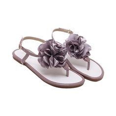 Flower Patent Leather Sandals (1,980 MKD) ❤ liked on Polyvore featuring shoes, sandals, rosegal, patent shoes, blossom shoes, blossom footwear, patent leather shoes and flower sandals