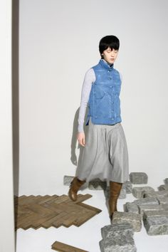 Distressed Denim Puffer Vest. Made in Italy | Gabriela Hearst Online Store - Worldwide Delivery