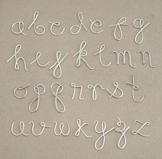 martha stewart wire letter alphabet - Google Search