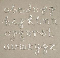 martha stewart wire letter alphabet - Google Search