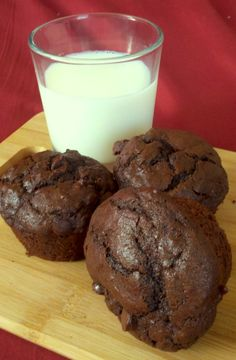 Moist and super chocolaty muffins perfect for any time of day or night