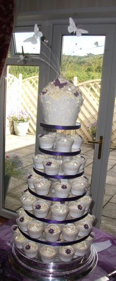 Fancy something different to the traditional wedding cake? This fabulous cupcake tower could be the ideal choice! Find this and many other tasty and exciting choices at Dawn's Cupcake Occasions...
