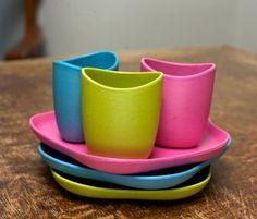 Set repas pour enfant - vaiselle écologique non toxique et biodégradable à 100%   http://www.tyattitude.com/becothings-enfant-set-repas-vaisselle-ecologique-verre-bol-assiette.html