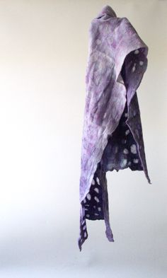 """""""mitosis 8"""". Nature is calling, this shawl is whispering. 100% soft merinowool and chiffonsilk. 26x120cm, €100. http://atelierkniedelius.exto.nl/kunstwerk/169068029_next.html#.VQwuW9h0w5s"""