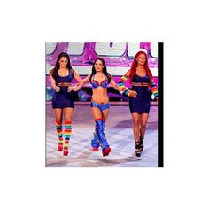 WWE.com: Brie Bella & The Funkadactyls vs. Layla, Alicia Fox & Aksana... ❤ liked on Polyvore featuring pictures