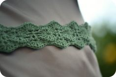 Nice stitch - pretty belt pattern...would make a pretty headband too :)
