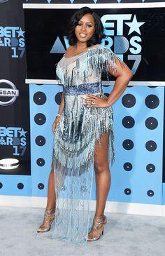Remy Ma attends the BET Awards in Los Angeles, June Female Hip Hop Artists, Celebrity Feuds, Bet Awards, Awards 2017, Gucci Mane, Nice Dresses, Formal Dresses, Black Celebrities, African Fashion