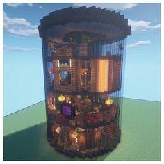 Minecraft Cottage, Minecraft Mansion, Cute Minecraft Houses, Minecraft House Tutorials, Minecraft Room, Minecraft Plans, Amazing Minecraft, Minecraft Blueprints, Minecraft Designs