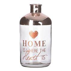 Βάζο γυάλινο Home (large)  Τιμή: €5,60 http://www.lovedeco.gr/p.Vazo-gyalino-Home-large.867414.html