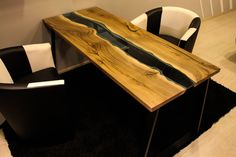 Live edge walnut river table SOLD