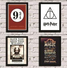 Kit de Posters com Moldura Harry Potter