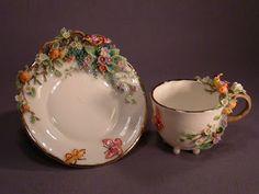 tea cup and saucer China Cups And Saucers, China Tea Cups, Teapots And Cups, Teacups, Tea Pot Set, Tea Sets, Cuppa Tea, Kintsugi, My Cup Of Tea