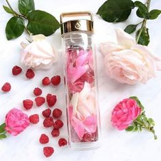 @ posy_robes loves staying hydrated with their rose #detoxwater 🌹 |