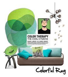 """Lime & Aqua Rug"" by dayna-marie on Polyvore featuring interior, interiors, interior design, home, home decor, interior decorating, ADAM, Harrods and colorfulrugs"