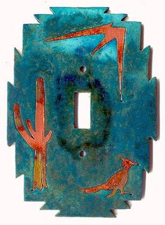 CopperCutts Roadrunner with Cactus Single Standard by COPPERCUTTS, $13.00