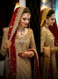 Latest Pakistani Bridal Dresses in Red For 2019 Pakistani Bridal Makeup Red, Pakistani Wedding Outfits, Wedding Dresses For Girls, Pakistani Wedding Dresses, Indian Bridal, Indian Outfits, Bridal Dresses 2018, Bridal Outfits, Bridal Dupatta