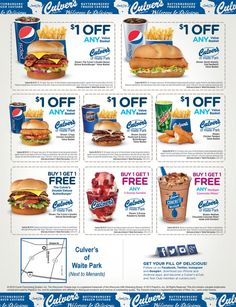 picture regarding Culver's Printable Coupons identified as Culvers printable discount coupons july 2018 - Promotions dyson vacuum