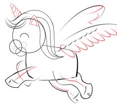 Step 04 unicorn How to Draw Cute Chibi Cartoon Unicorns with Easy Step by Step Drawing Lesson