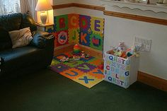 a babys play corner in the living room, design d cor, living and dining room, A nice safe playarea
