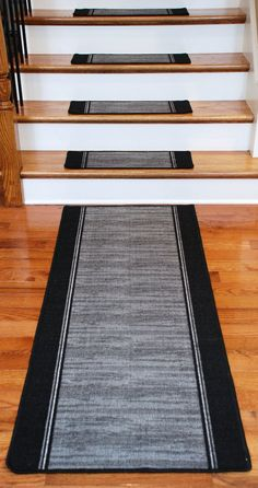 Washable Non Skid Carpet Stair Treads Boxer Grey 13 Plus A Matching