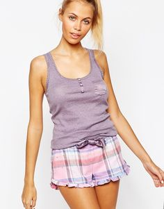Floozie Short   Vest Pyjama Set at asos.com e84b0f170