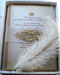 The Lora Silk Boxed Invitation Suite by RoyaleAmethyst on Etsy