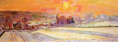 Sunset and Snow over Orsay by Nicolas Tarkhoff - 1910-1912 ☀