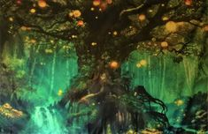 QCWN Printing Fantasy Plant Magical Forest Tapestry Magic Landscape Art for Home Decor Wall Hanging Fantasy Art Landscapes, Fantasy Landscape, Fantasy Artwork, Landscape Art, Fantasy Paintings, Magical Tree, Magical Forest, Fantasy Places, Fantasy World