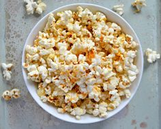 Buffalo Ranch Popcorn made from scratch without a ranch packet! A delicious snack!